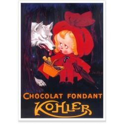 Affiche - Chaperon rouge Chocolat