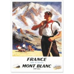 Affiche - Chamonix - L'alpiniste