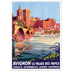 Affiche - Avignon - Le Palais des Papes