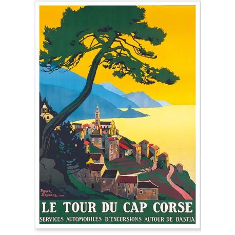 Affiche - Corse - Le tour du Cap - PLM