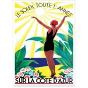 Affiche - Côte d'Azur - Soleil toute l'année