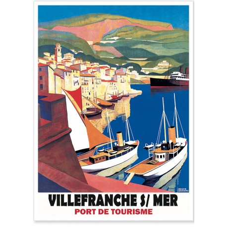 Affiche - Port de Villefranche-sur-Mer - PLM
