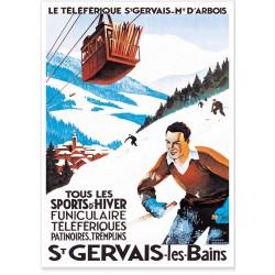 Affiche - Le téléphérique de Saint Gervais