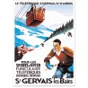 Affiche - Le téléphérique de Saint-Gervais - PLM