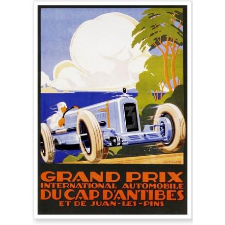Affiche - Grand Prix d'Antibes de 1929 - Ville d'Antibes