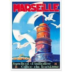 Affiche - Marseille Le phare du Planier
