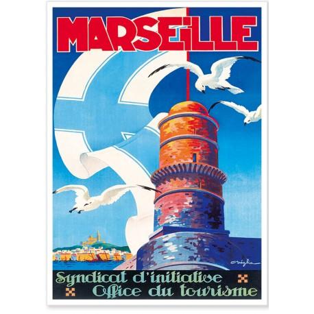 Affiche - Marseille - Le phare du Planier - Ville de Marseille