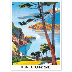 Affiche - Balade en Corse - PLM