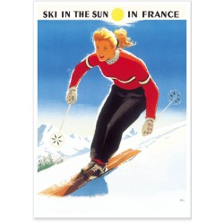 Affiche - Ski in the sun (fin de série)