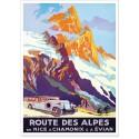Affiche - Route des Alpes