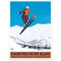 Affiche - Chamonix - Sauteur à ski