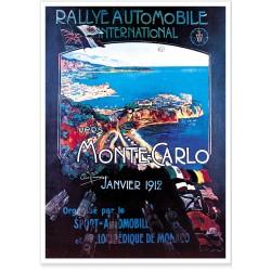 Affiche - Rallye de Monte-Carlo de 1912 - Ville de Monaco