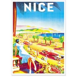 Affiche - Nice - La Promenade des Anglais - PLM