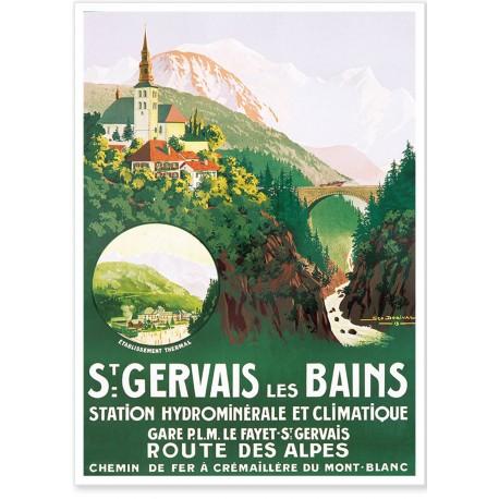 Affiche - Station climatique de Saint-Gervais - PLM