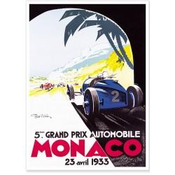 Affiche - Grand Prix de Monaco de 1933 - Ville de Monaco