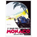 Affiche - Grand Prix de Monaco de 1933