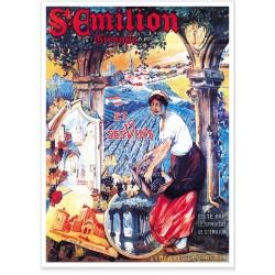 Affiche - Vignes de Saint-Émilion - Compagnie PO