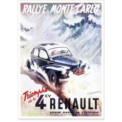Affiche - Triomphe de la 4 CV - Renault