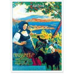 Affiche - Ajaccio - La bergère