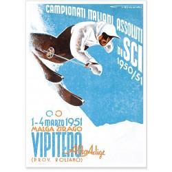 Affiche - Italie - Championnat de ski - ENIT