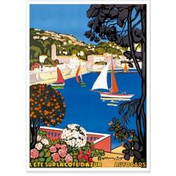 Affiche - Saint Jean Cap Ferrat Le port