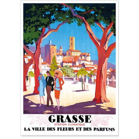 Affiche - Station climatique de Grasse - PLM