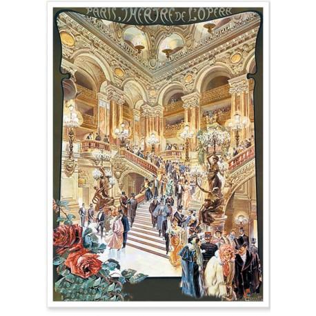 Affiche - Paris - Le théâtre de l'Opéra - PLM