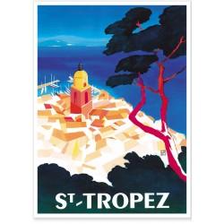Affiche - Vue aérienne de Saint Tropez