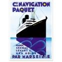 Affiche - Paquebot Maréchal Lyautey