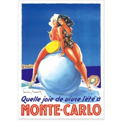 Affiche - Vivre l'été à Monte-Carlo - Ville de Monte-Carlo