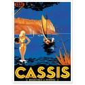Affiche - Cassis - Scène d'été