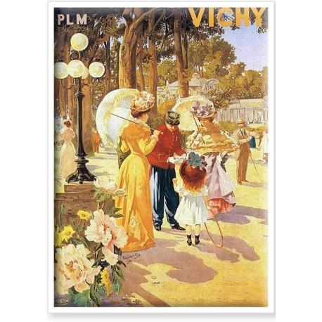 Affiche - Vichy - Le parc des Sources - PLM