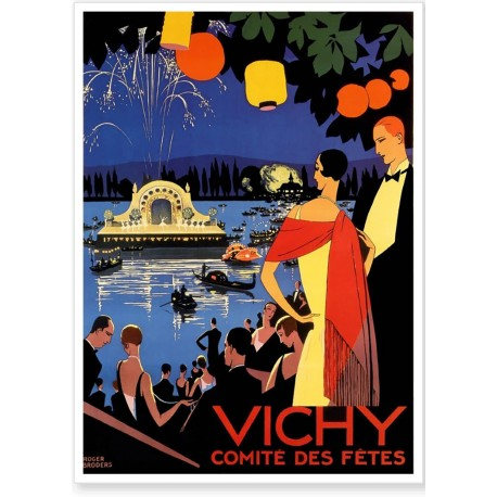 Affiche - Vichy - Fête sur le lac - Ville de Vichy