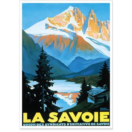 Affiche - Savoie - Paysage montagneux - PLM