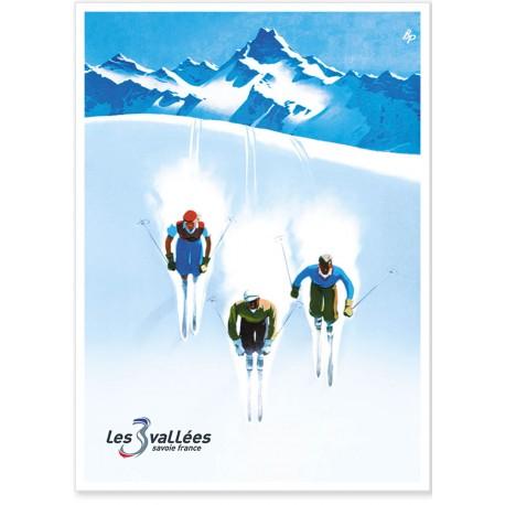 Affiche - Savoie - Les 3 vallées