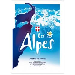 Affiche - Alpes - Bouquetin