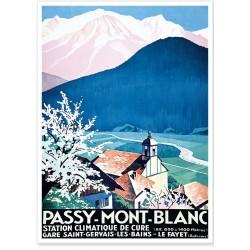 Affiche - La station climatique de Passy Mont Blanc