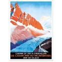 Affiche - La chemin de fer du Montenvers - Chamonix