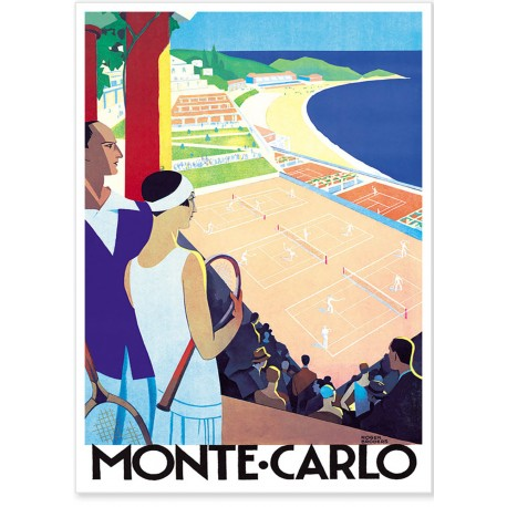 Affiche - Tennis - Monte-Carlo