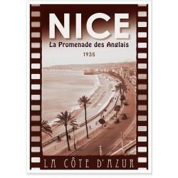 Affiche - Nice - La Promenade en 1935
