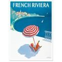 Affiche - Côte d'Azur - La French Riviera