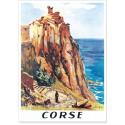 Affiche - Village de Nonza en Corse
