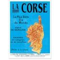Affiche - Carte de la Corse