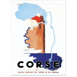 Affiche - Corse A six heures du Continent