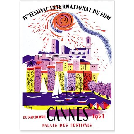 Affiche - Festival de Cannes de 1951