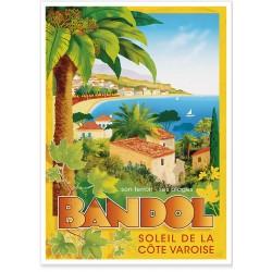 Affiche - Bandol - Soleil de la Côte Varoise