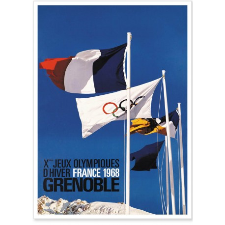 Affiche - JO de 1968 à Grenoble