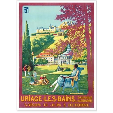 Affiche - Le parc d'Uriage - PLM