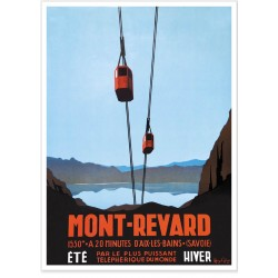 Affiche - Le téléphérique du Mont Revard
