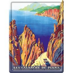 Plaque métal 30x40 - Calanche de Piana